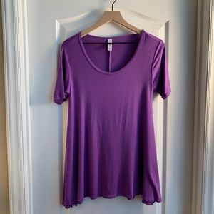 LuLaRoe Perfect T solid purple Shirt  Size XXS